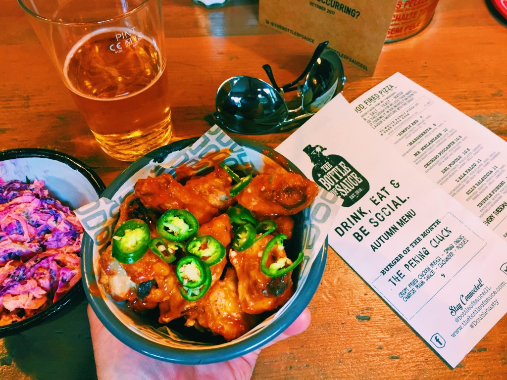 Spicy as hell chicken wings at The Bottle of Sauce Cheltenham National Dish