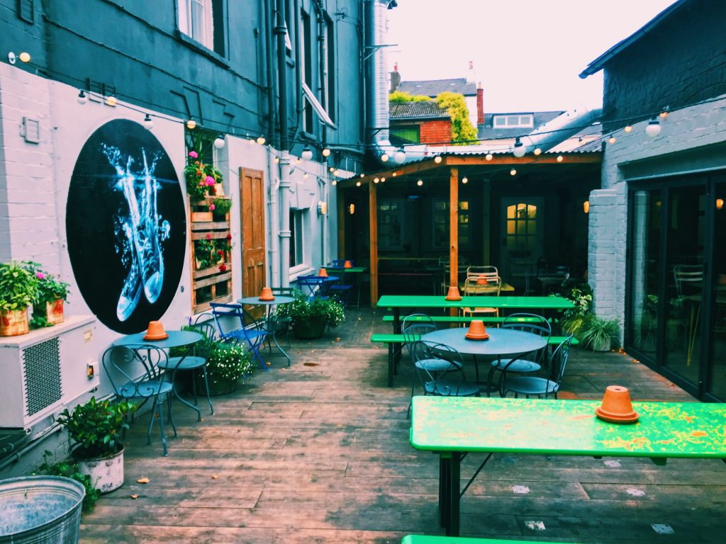 The Courtyard at The Bottle of Sauce Cheltenham National Dish