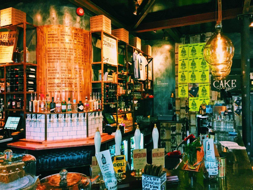 The bar at The Bottle of Sauce Cheltenham National Dish