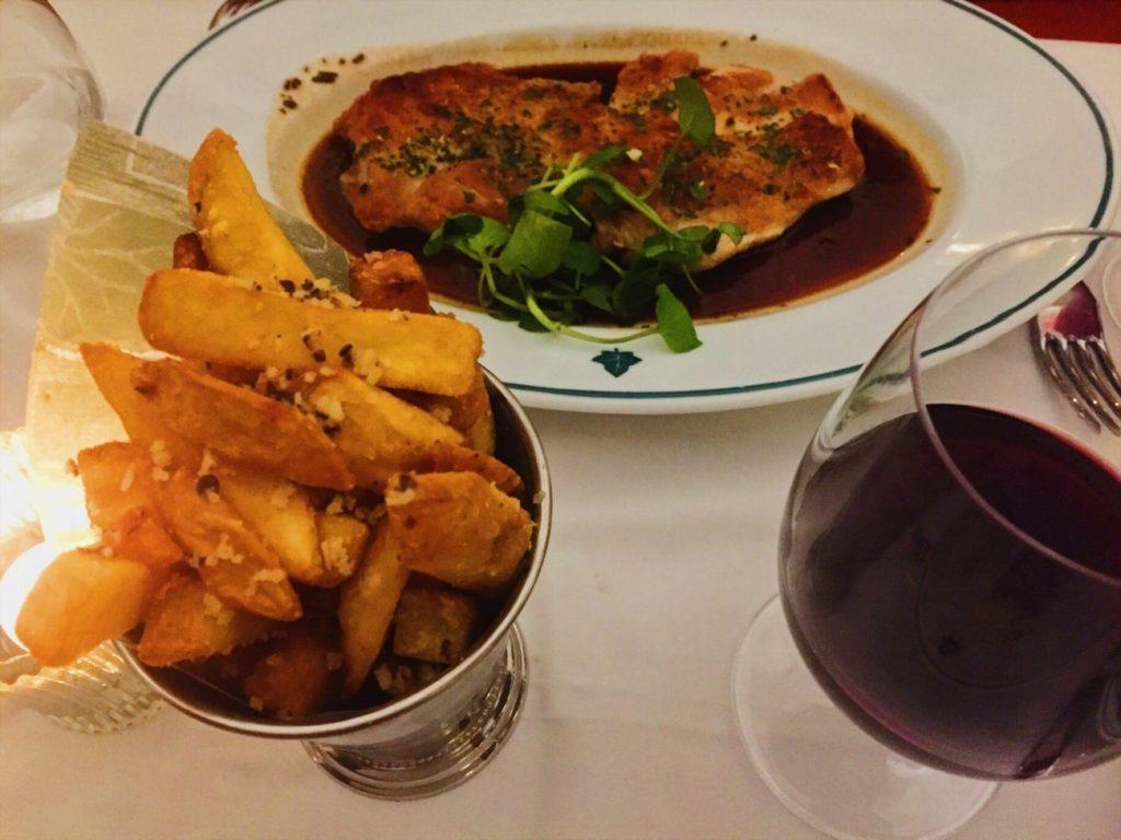 Half roast chicken and truffle chips The Ivy Cheltenham
