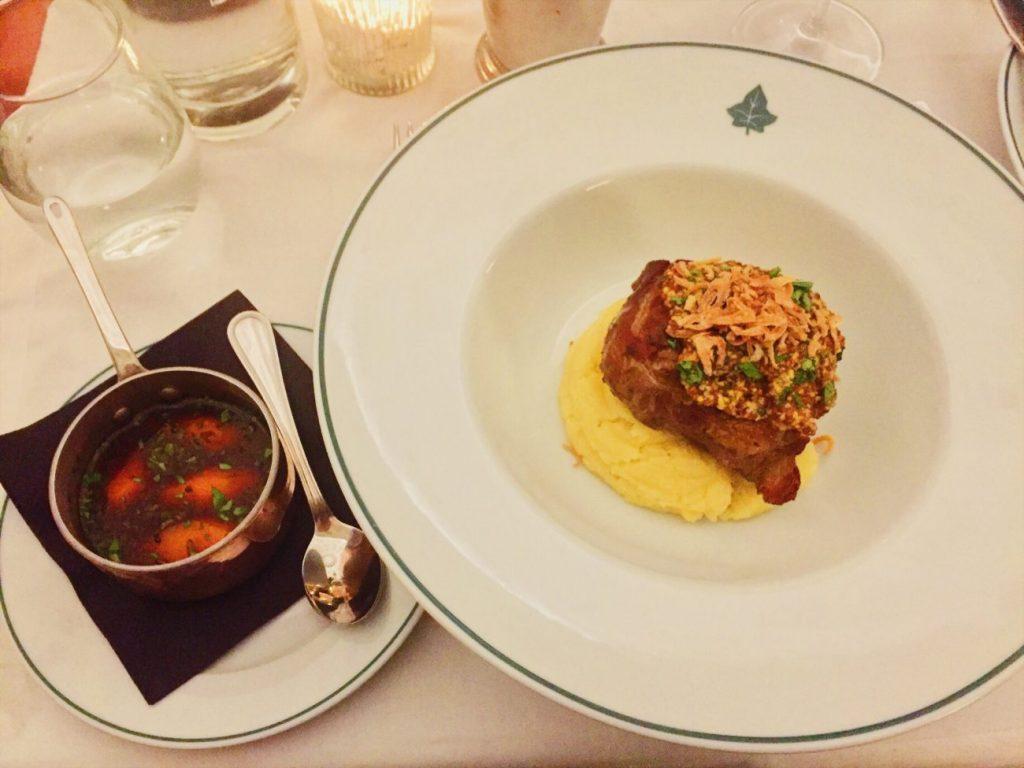 Slow roasted lamb shoulder at The Ivy Cheltenham